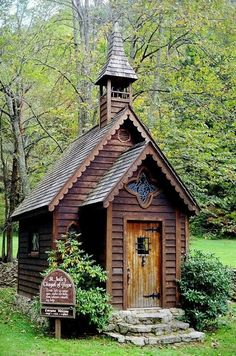 "This small chapel is called ""St. Jude's Chapel of Hope,"" in the small community of Trust, which is near the community of Spring Creek in Madison county. It sits on the corner where hwy 63 and hwy 209 connects. You can go inside to rest, take a look around and reflect as the sign in front encourage you to do. North Carolina"