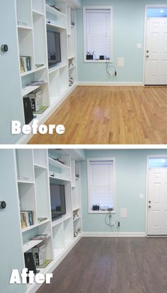 We refinished our shiny orange oak floors to a satin brown, and I couldn't be happier with the result!