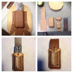 Leather knife sheath, multi-tool
