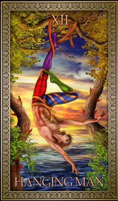 Hanged Man Tarot, The Hanged Man, Major Arcana Cards, Tarot Major Arcana, Animal Activities, Tarot Card Decks, Believe, Epic Art, Oracle Cards