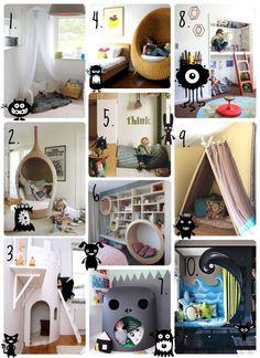 10 reading nook for kids - tane, rifugi e angoli lettura!