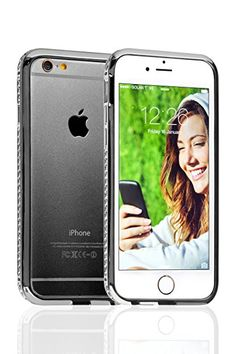 Swiss-QA iPhone Clear Case with Screen Protector Tempered Glass - Bumper Protection - Slim Non Slip Cover for Apple - Scratch Resistant, Shock Proof Buy Iphone 6, Iphone Cases, Screen Protector, Apple, Beautiful, Apple Fruit, Iphone Case, Apples, I Phone Cases