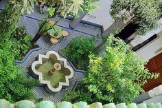 Garden And Lawn , Moroccan Home Gardens : Moroccan Home Gardens With Water Feature
