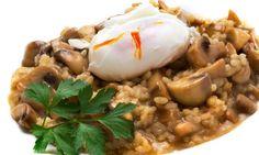 Receta de Risotto de champiñones con huevo - Karlos Arguiñano