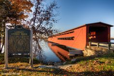 Stretching 282 feet across the St. Joseph River, the Langley Bridge is the longest of West Michigan's few remaining covered bridges. Langley Bridge is also one of the longest in the nation. Langley Bridge was built in the fall of 1887. The bridge features three spans, each 94 feet long. It is 16 feet high and 19 feet wide. Centreville, MI