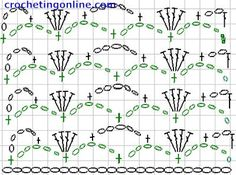 how to crochet instructions Tick Lace