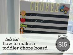 DIY Toddler Chore Chart