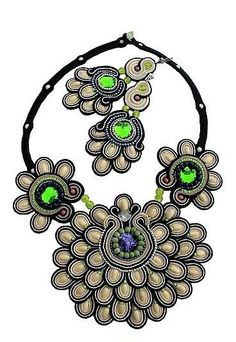 Soutache: earrings and necklace design Kleo    Photo. www.olissimart.com