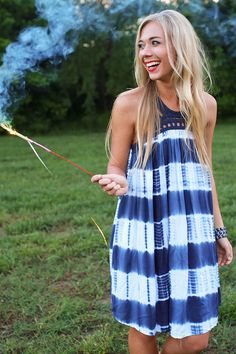 Tie dye is one of our favorite summer trends and this dress is no exception!