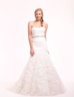 Strapless Mermaid Wedding Dress  with Natural Waist in Tulle. Bridal Gown Style Number:32485005