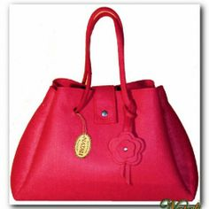 Eleganck różowa torba wykonana z wysokiej jakości włoskiego dwustronnego filcu w KuferArt.pl
