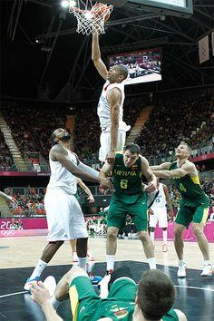 Nicolas #Batum - Equipe de France de #Basketball vs Lituanie - #JO #Londres2012