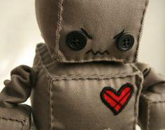 Girly lunares Robette el Robot de peluche por Theplushrobot en Etsy