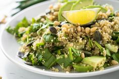 Lemony Quinoa with Pine Nuts and Spinach – Gutbliss Spinach Salad, Quinoa Salad, Dairy Free Recipes, Vegetarian Recipes, Cooking Recipes, Healthy Recipes, Gluten Free