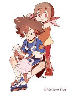 Koromon, Tai, and Kari Anime Manga, Anime Art, Digimon Wallpaper, Gatomon, Pokemon, Digimon Tamers, Digimon Digital Monsters, Digimon Adventure Tri, Gothic Anime