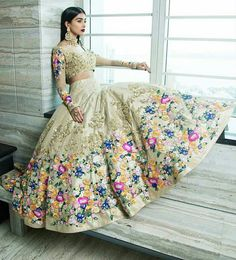 Jiofab have special collection of wedding and designer lehenga with best rates. Buy online lehenga with best quality in India,USA,UK,Canada and worldwide. Order this neeta lulla tafeta silk wedding designer lehenga for mehndi, sangeet and wedding. Indian Lehenga, Silk Lehenga, Bridal Lehenga, Lengha Choli, Punjabi Lehenga, Lehenga Suit, Green Lehenga, Anarkali Suits, Punjabi Suits