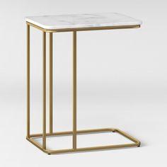 Highfield C Table White Marble - Project 62 C Table, End Tables, Marble Top, White Marble, Table Furniture, Furniture Design, Metal Furniture, Tube Acier, Iron Decor