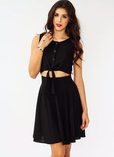 A silky texture makes this non-stretchy, unlined dress feel kinda fancy.