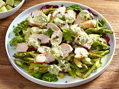 Chicken Carpaccio with Salsa Verde Salsa Verde, Low Carb Recipes, Healthy Recipes, Soup And Salad, Salad Recipes, Chicken Recipes, Healthy Eating, Favorite Recipes, Lunch