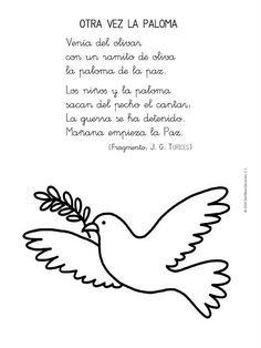ESOS LOCOS BAJITOS DE INFANTIL: DIA DE LA PAZ Peace Crafts, Paz Interior, Religion, Teaching, Day, Picasso, Irene, Google, Preschool