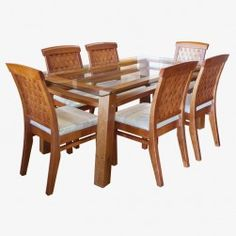 JUEGO COMEDOR VANCOUVER 6 SILLAS NEW ANTILLANCA Glass Dining Room Table, Dining Chairs, Vancouver, Furniture, Home Decor, Dining Table, Home, Glass Dining Table, Decoration Home