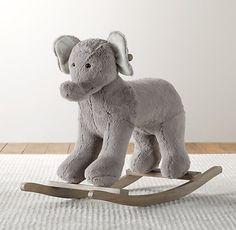 Cuddle Plush Elephant Rocker