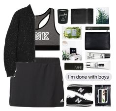"""Untitled #2312"" by tacoxcat ❤ liked on Polyvore featuring adidas, Victoria's Secret, New Balance, Clinique, NARS Cosmetics, Royal Velvet, Bella Freud and rag & bone"