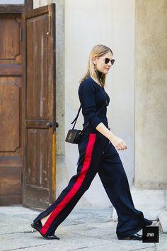 Alexandra Krusi wearing Saint Lauren – Milan