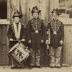 (animated stereo) Drummer boys, circa 1869 by Thiophene_Guy, via Flickr