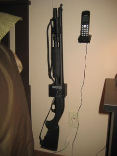 The Shotgun wall mount gun lock. I HAVE TO HAVE THIS!!!