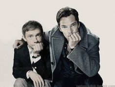 :) Benedict Cumberbatch and Martin Freeman from Sherlock BBC