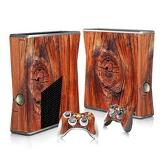 Wooden board Xbox 360 decal for Xbox 360 console and 2 controllers. Choose your favorite design from a huge range of Xbox 360 decals collection for Xbox 360 Console.