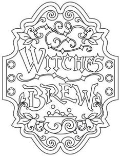 Worksheets Haunted House Coloring Page See More IColor Halloween II Witches Brew Apothecary