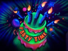 black light birthday party invitations - Bing Images