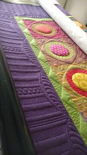 ideas free motion quilting borders beautiful for 2019 Hand Quilting Designs, Machine Quilting Patterns, Quilting Templates, Quilting Tutorials, Quilting Projects, Quilt Patterns, Quilting Ideas, Quilt Designs, Quilting Rulers