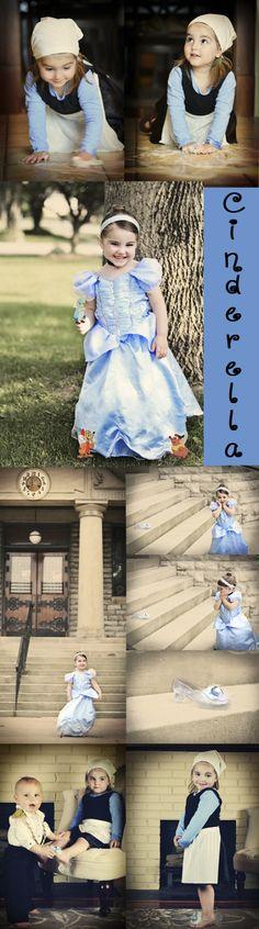 Cinderella Fairy tale Photo Shoot. 3 year old girl. Disney Princess. Sweet Pea Photography. Norwalk, OH