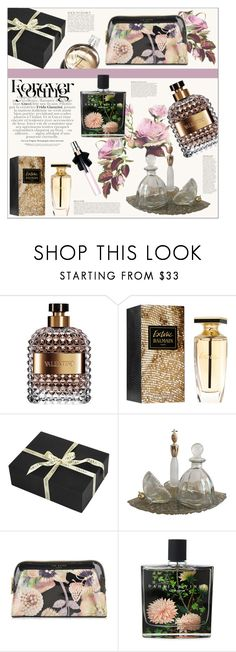 """In Bloom: Spring Perfume"" by emilyde83 ❤ liked on Polyvore featuring beauty, Anja, Gucci, Valentino, Balmain, Amara, Ted Baker, Chanel, Nest Fragrances and Yves Saint Laurent"