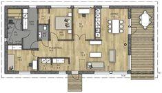 LATO 123 PLUS - Kannustalo Floor Plans, Layout, How To Plan, House, Sims 4, Art, Home Architecture, Houses, Art Background