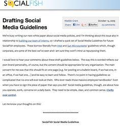 Socialfish's internal social media policies