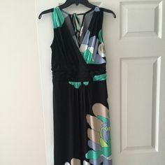 Maxi Dress Floral print maxi dress, worn once only. Perfect for a beach vacation or warm summer night. Dress Barn Dresses Maxi
