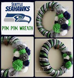 Kaleidoscope of Colors: DIY: Seattle Seahawks Wreath