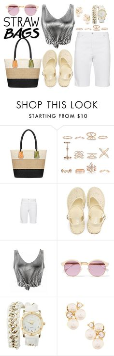 """""""Carry On: Straw Bags"""" by joslynaurora ❤ liked on Polyvore featuring New Look, Raphaela by Brax, Sheriff&Cherry, Charlotte Russe, Anne Klein and strawbags"""