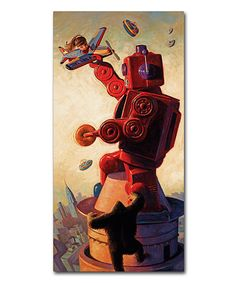 Love this Eric Joyner Robo King Wrapped Canvas on #zulily! #zulilyfinds