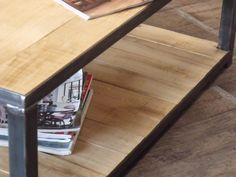 Table basse métal bois sur mesure - MICHELI Design