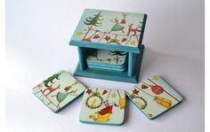 Tole Painting, Diy Gifts, Coasters, Decorative Boxes, Shabby, Christmas Decorations, Pintura Country, Hand Painted, Scrapbook