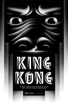 Design by La Boca  #Illustration #Design #Typography #Movie #Film #Poster #KingKong #Art #LaBoca
