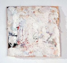 Robert Ryman, Untitled, 1959, Oil paint on unstretched raw cotton canvas, 7 x 7 1/4 inch