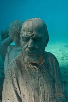 Jason de Caires Taylor created this underwater sculpture park. Remarkable!