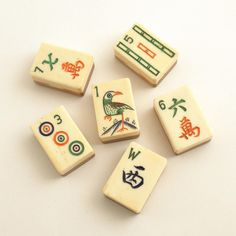 Vintage Mah Jong Tiles by efinegifts on Etsy, $9.95