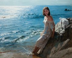 Kai Fine Art is an art website, shows painting and illustration works all over the world. Spanish Painters, Spanish Artists, Figure Painting, Painting & Drawing, Romantic Images, Impressionist Artists, Brown Eyed Girls, San Fernando, Female Portrait